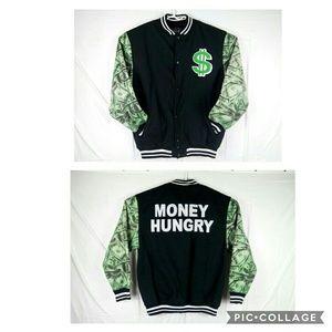 Diamond Stash Men's XL Black/Green Baseball Jacket